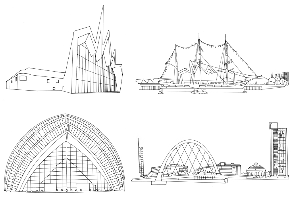 Line Drawing Buildings : Buildings line drawings